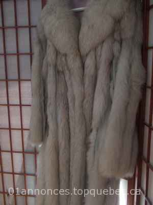 Manteau de fourrure renard bleu/Blue fox fur